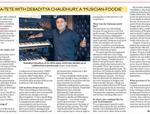 Debaditya Chaudhury: Success Story of Chowman by pioneer 'musician – foodie'
